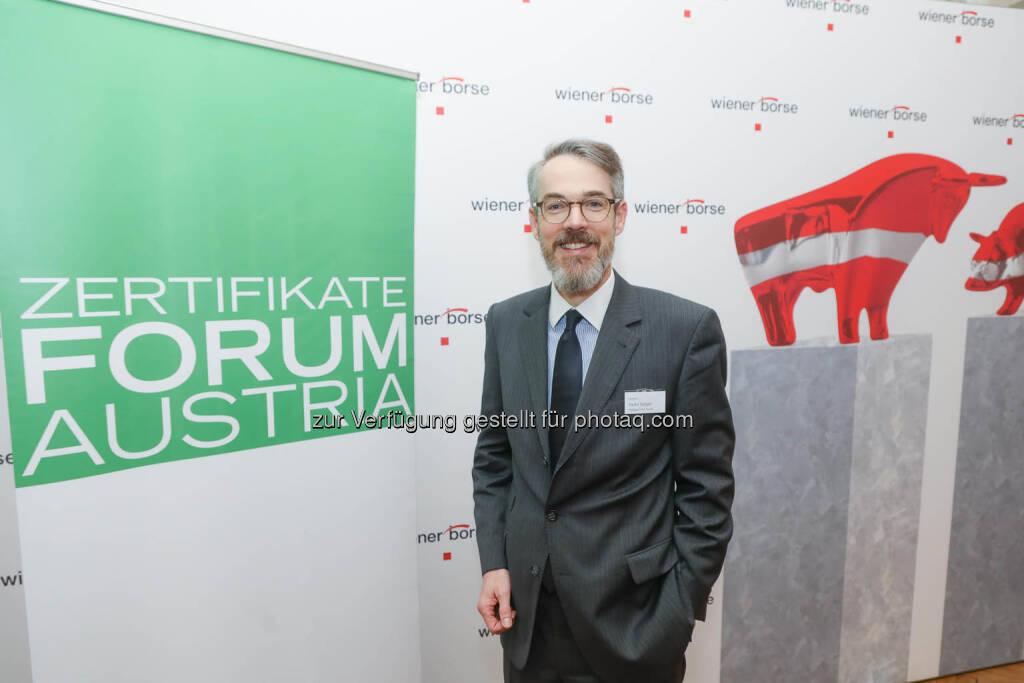 Heiko Geiger (Vontobel), © Zertifikate Forum Austria/APA-Fotoservice/Tanzer Fotograf/in: Richard Tanzer (23.01.2019)