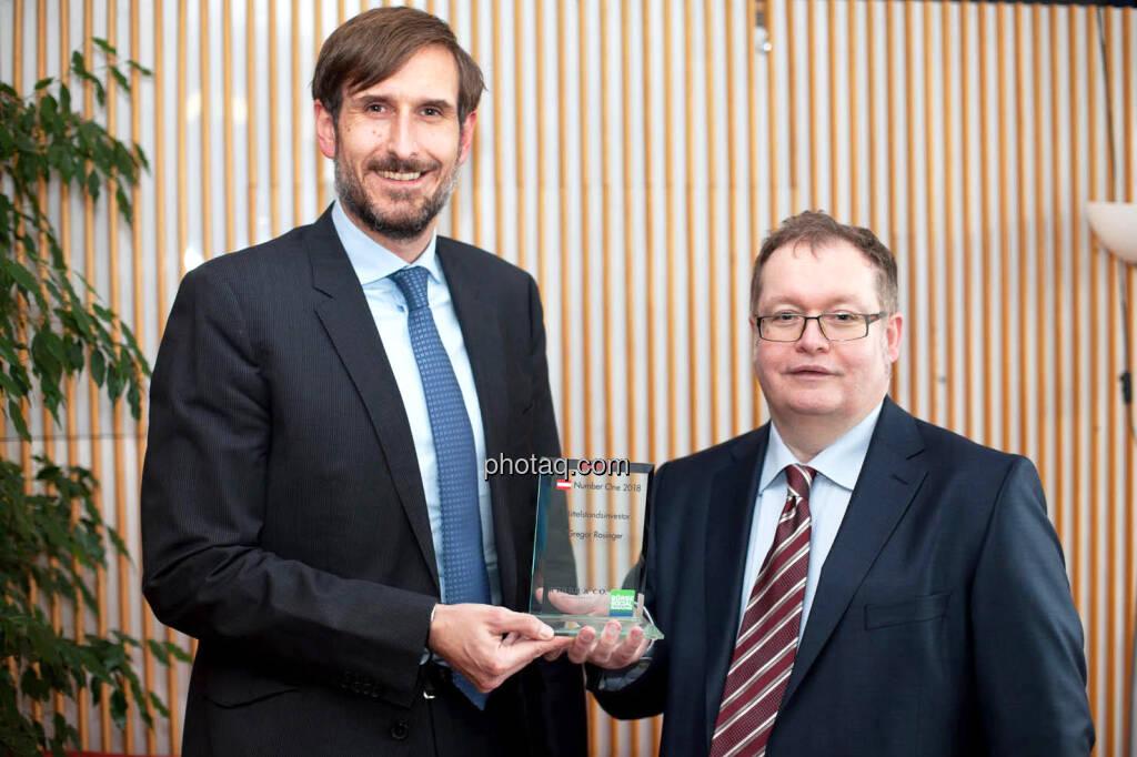 Christoph Moser (Weber & Co.) - Special Award Mittelstandsinvestor - Gregor Rosinger (Rosinger Group), © photaq (29.01.2019)