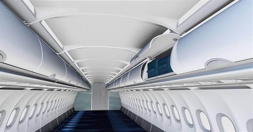 FACC entwickelte eine neue Kabinenlösung zur signifikanten Erhöhung des Gepäckvolumens. Austrian Airlines ist Launch-Kunde und verwendet die Produktinnovation zum Upgrade ihrer A320 Classic Kabine. Fotorechte: © FACC, © Aussendung (01.02.2019)