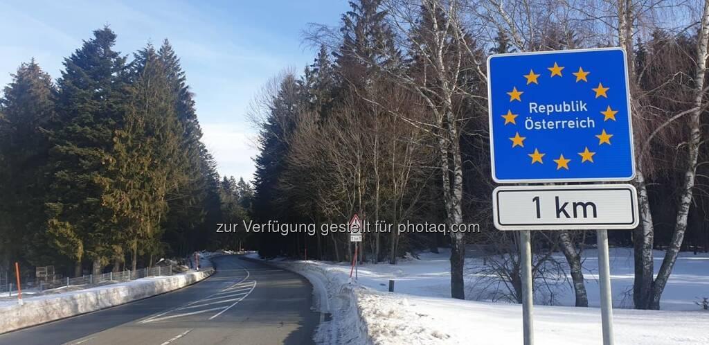 Österreich Deutschland Grenze (10.02.2019)