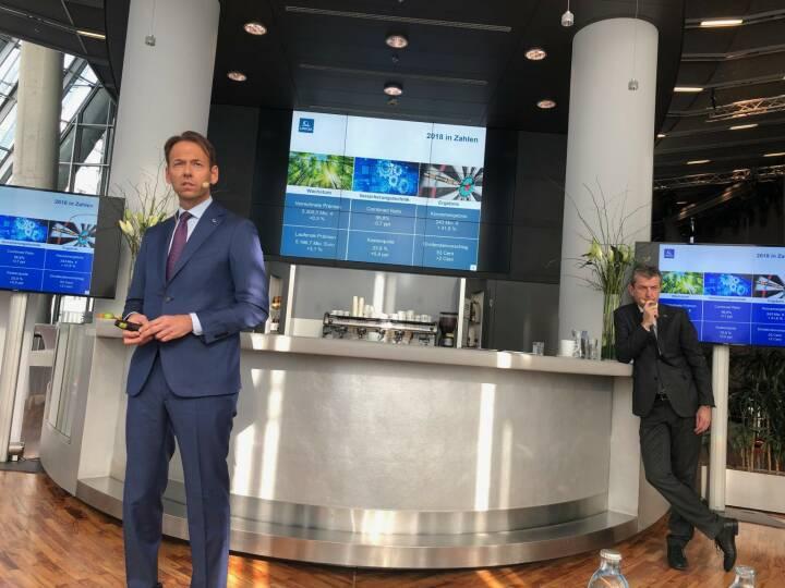 Uniqa, Pressekonferenz 21.2. 2019, Vorstände Andreas Brandstetter (li) und Kurt Svoboda, Credit: BSM