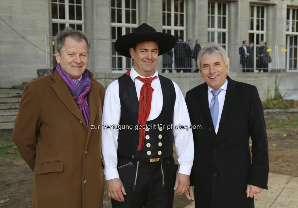 Eduard Zehetner, Mario Lachmann, Oberbürgermeister Jürgen Roters beim Gerling Quartier Richtfest Köln (c) Immofinanz (15.12.2012)