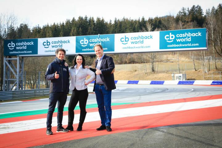 mWS myWorld Solutions AG: Die Cashback World und das Projekt Spielberg intensivieren Partnerschaft, Patrick Friesacher Heidemarie Kipperer und Dr. Philipp Berkessy freuen sich auf eine spannende gemeinsame Zukunft (v.l.n.r.);  Fotocredit:myWorld Austria GmbH