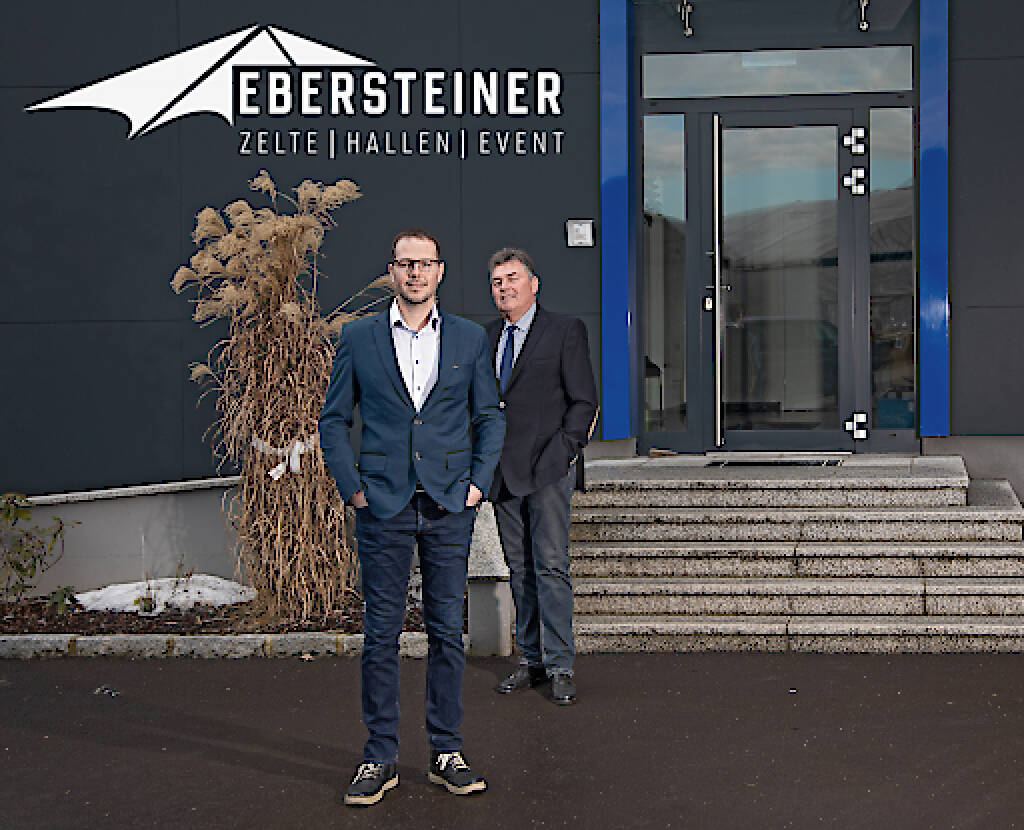 Ebersteiner GmbH: Generationenwechsel beim EVENT-ZELT-Profi Ebersteiner, Gründer Heinrich Ebersteiner übergibt das Unternehmen an Sohn Markus; Fotocredit:MARKSTEIMER JOHANN (25.02.2019)