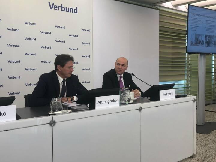 GJ 2018 Pressekonferenz mit Verbund-CEO Wolfgang Anzengruber und CFO Peter Kollmann
