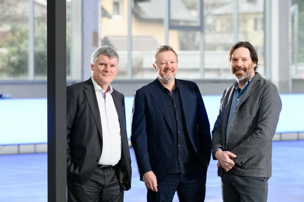 Zumtobel-Lichtforum: von links: CEO Alfred Felder, Kjetil Trædal Thorsen und Patrick Lüth, Credit: Snøhetta (15.03.2019)