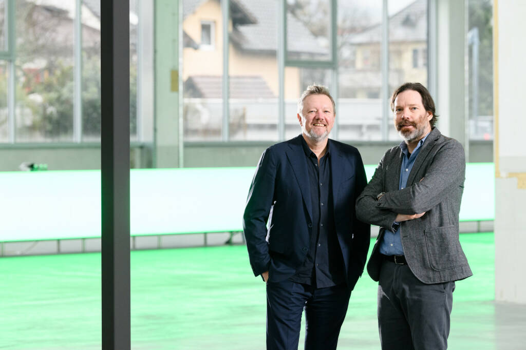 Zumtobel-Lichtforum: von links: Kjetil Trædal Thorsen und Patrick Lüth, Credit: Snøhetta (15.03.2019)