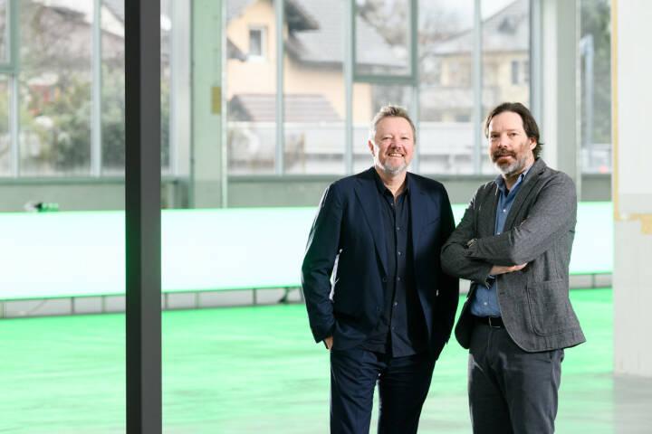 Zumtobel-Lichtforum: von links: Kjetil Trædal Thorsen und Patrick Lüth, Credit: Snøhetta