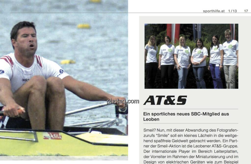 Die Smeil!-Leiberlaktion hat es ins Sporthilfe-Magazin geschafft (AT&S-Edition) (20.06.2013)