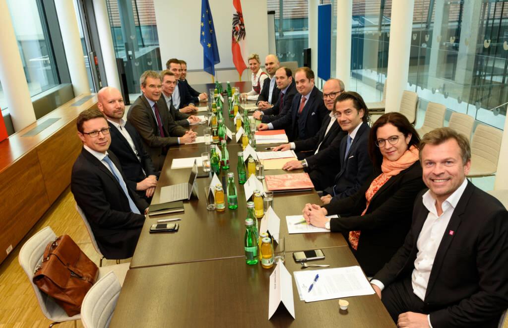 Bundesministerium für Finanzen: Löger ruft Expertengruppe zur nationalen Digitalsteuer ein, Fotocredit: BMF/Bruckberger, © Aussender (20.03.2019)