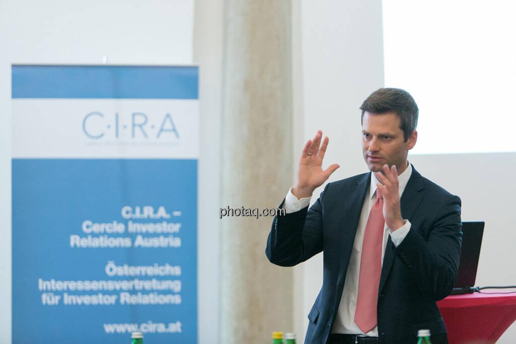 Thomas Melzer (Wolford) beim 5. Small Cap Day - Wiener Börse / C.I.R.A., © finanzmarktfoto.at/Martina Draper (20.06.2013)