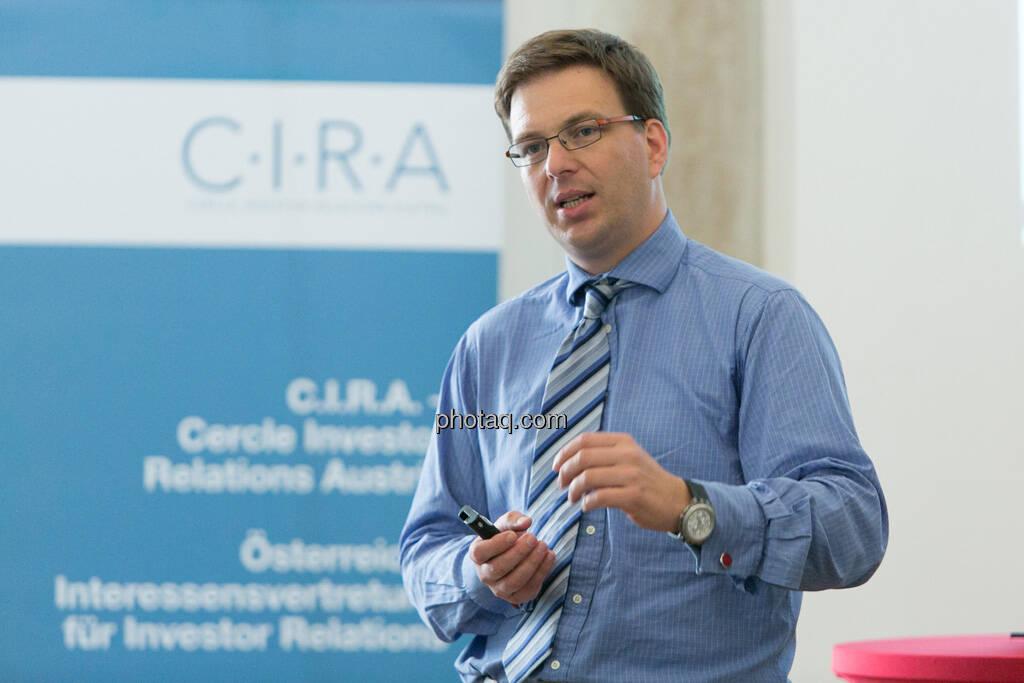 Martin Theyer (AT&S) beim 5. Small Cap Day - Wiener Börse / C.I.R.A., © finanzmarktfoto.at/Martina Draper (20.06.2013)