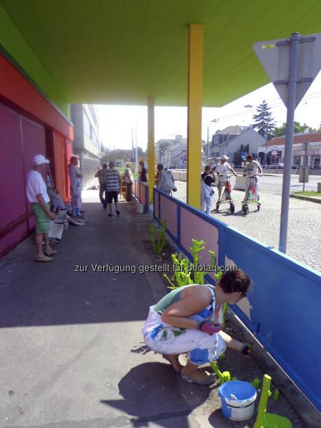 paint back - Ein Kunstobjekt im öffentlichen Raum, das zum Wundern und Nachdenken anregt. Copyright: beko_mbbeller                       (21.06.2013)