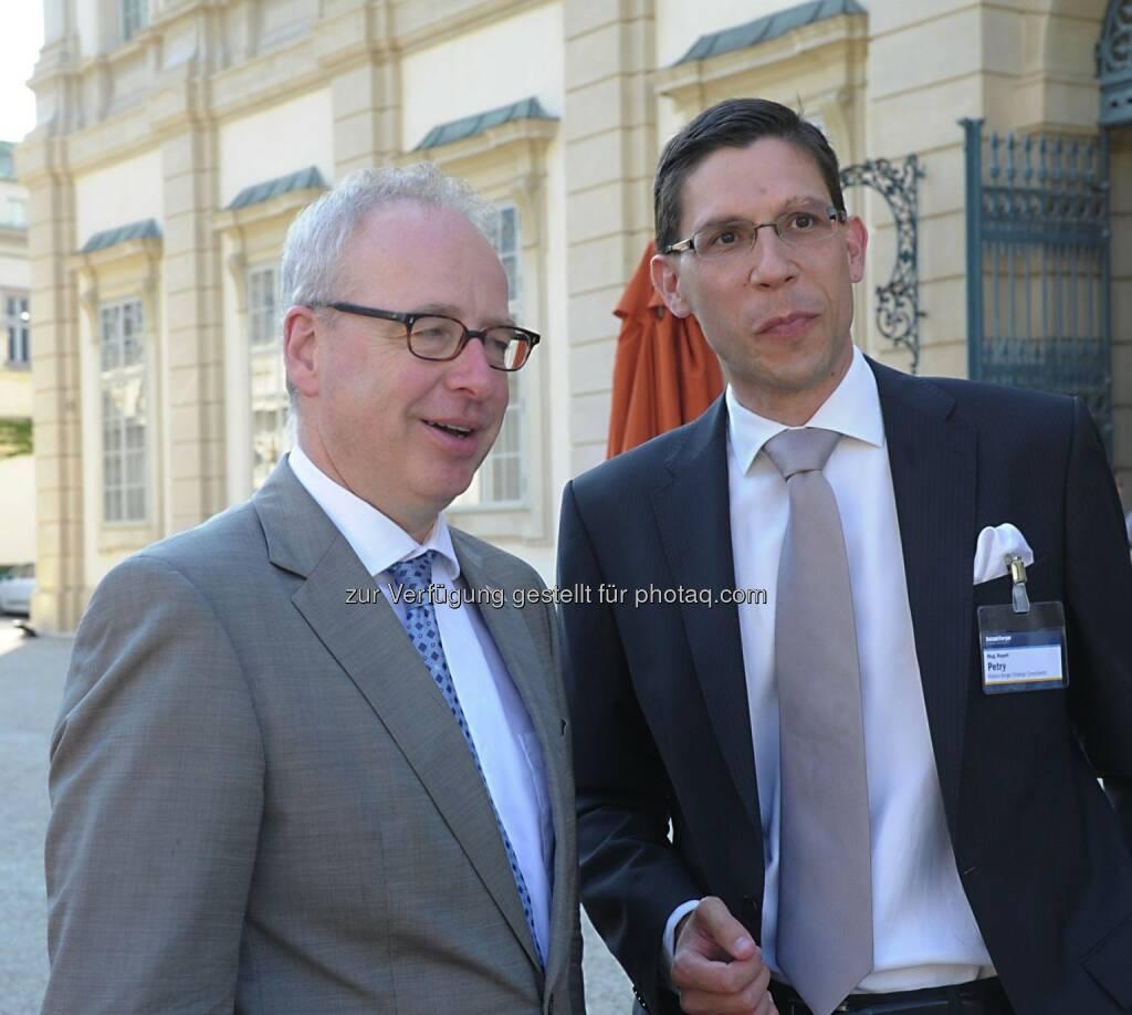 Ludwig Mertes (Prisma Kreditversicherungs AG), Rupert Petry (Roland Berger), © Copyright Roland Berger Strategy Consultants, alex dobias 2013 alex@dobias.at (23.06.2013)