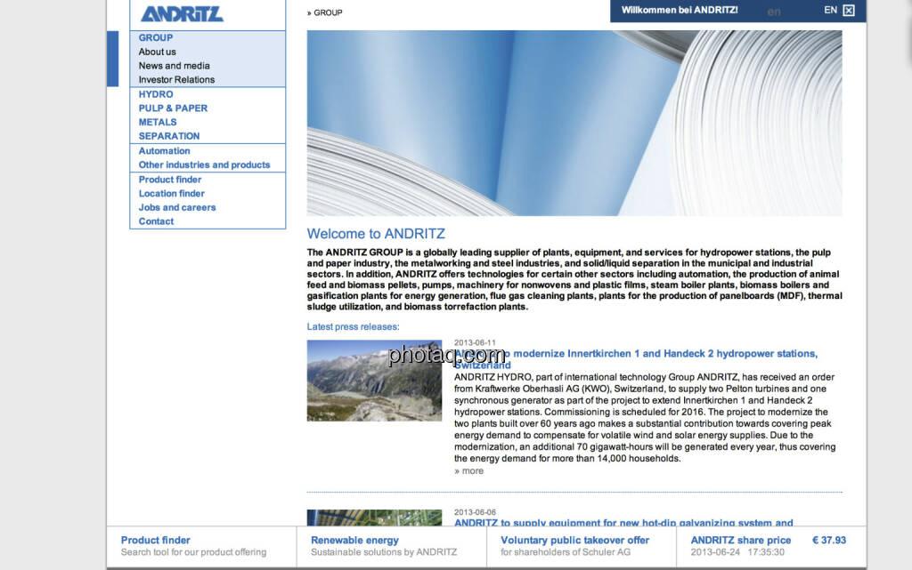 Andritz ist am 25.Juni 2001 an die Wiener Börse gegangen, die langfristig beste Wiener Aktie (25.06.2013)