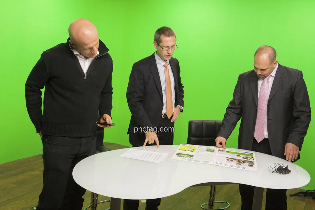 Georg Wachberger, Günther Artner (Erste Group, Mitte),  Daniel Lion (Erste Group, rechts), © Martina Draper (15.12.2012)