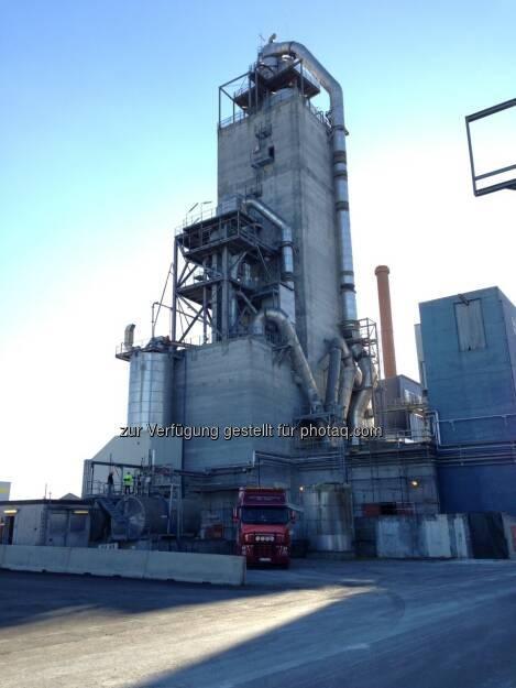 RHI Normag: Außenansicht der Produktionsanlage von RHI in Norwegen. (c) RHI (15.12.2012)