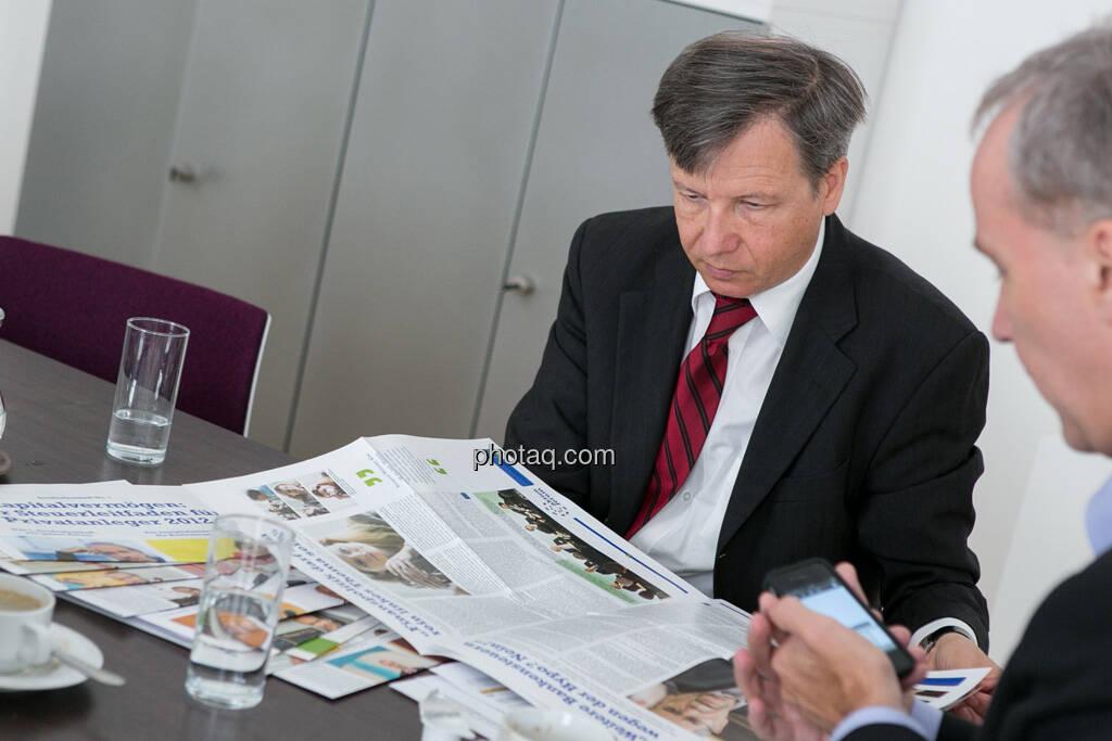 Heinrich Traumüller, Christian Drastil , © finanzmarktfoto.at/Martina Draper (01.07.2013)