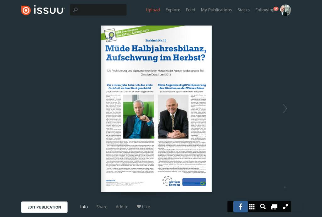 Seite 1 - Editorials von Christian Drastil und Wolfgang Nolz - Download http://www.christian-drastil.com/fachheft10 (04.07.2013)