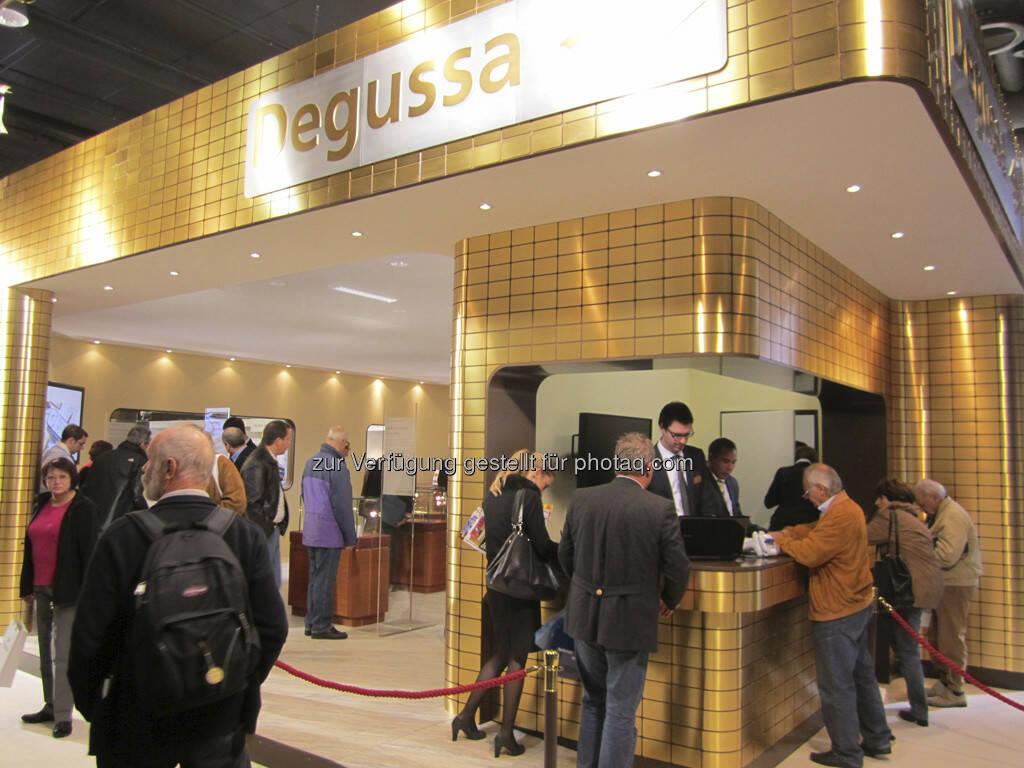 Der Stand von Degussa - war das Standhighlight der Messe!, © IRW-Press (15.12.2012)