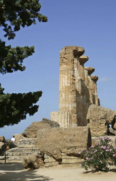 Straße der Tempel, Agrigent, Sizilien, Säulen, © Gabriele Hartweger (05.07.2013)