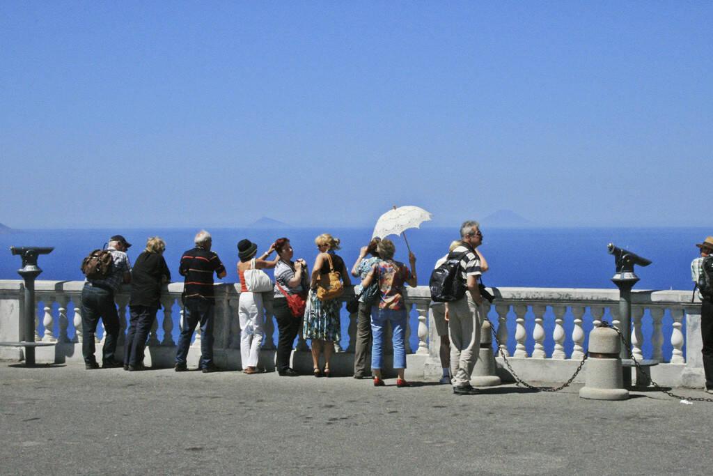Touristengruppe, Sizilien, © Gabriele Hartweger (05.07.2013)
