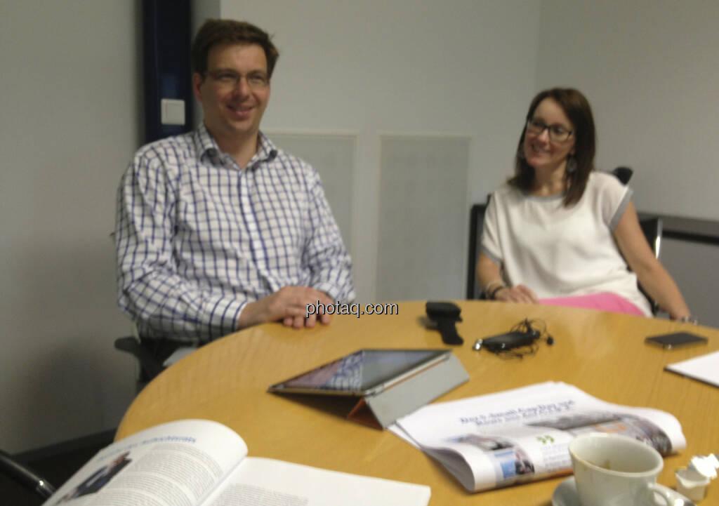 ... im Talk mit Martin Theyer und Christina Schuller bei AT&S in Leoben (05.07.2013)