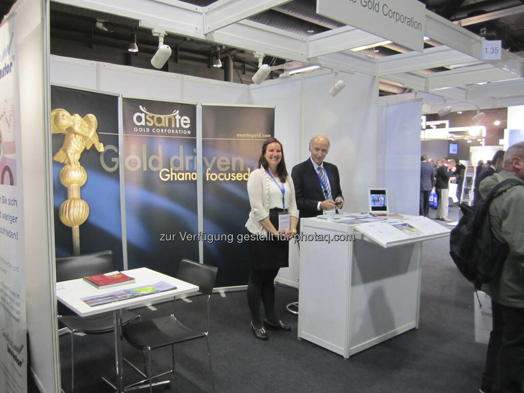 Douglas R. MacQuarrie und Francesca MacQuarrie von Asante Gold Corp., © IRW-Press (15.12.2012)