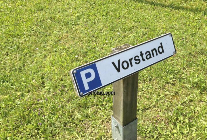 Vorstand, Parkplatz