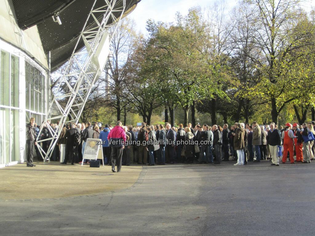 Edelmetallmesse 2012 - so sieht Anlegerinteresse aus!, © IRW-Press (15.12.2012)