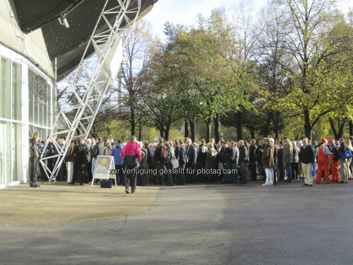 Edelmetallmesse 2012 - so sieht Anlegerinteresse aus!