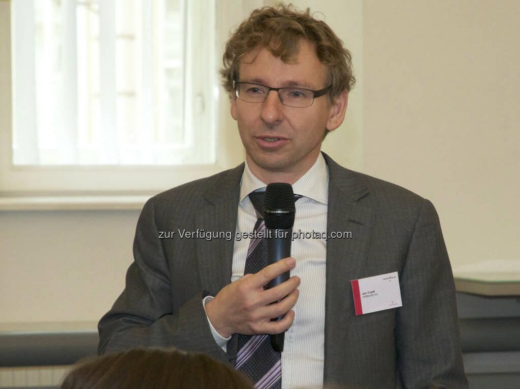 Jan Cupal (Verbund), © Wiener Börse, Claus Beischlager (15.12.2012)