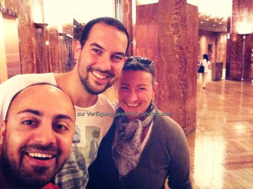 Ali Mahlodji, Andreas Tschas, Verana Novotna für/mit 21st Austria in New York (by Ali Mahlodji) (14.07.2013)