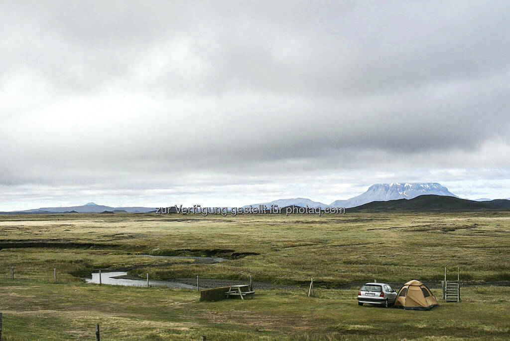 Campingplatz - Island, © Gabriele Hartweger (15.07.2013)