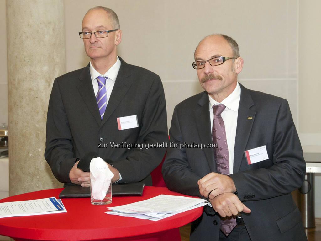 Wolfgang Pinner, Franz Gschiegl (beide ESPA), © Wiener Börse, Claus Beischlager (15.12.2012)
