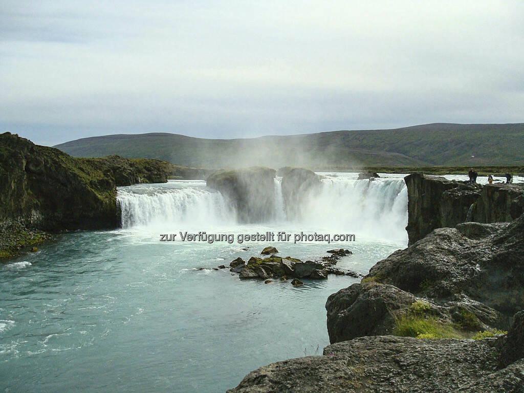 Gdafoss, Wasserfall - Island, © Gabriele Hartweger (15.07.2013)