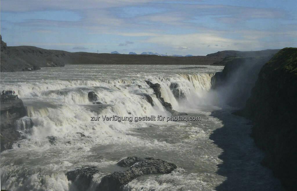 Gulfoss, Wasserfall  -  Island, © Gabriele Hartweger (15.07.2013)