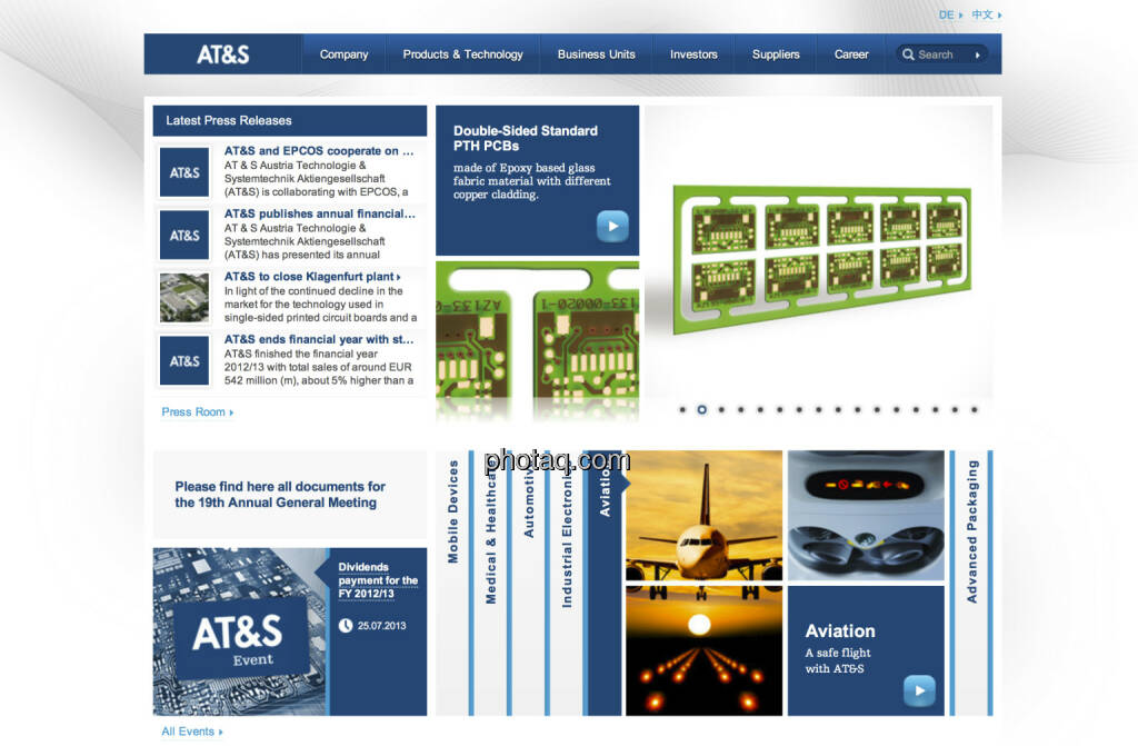 AT&S ist am 16.7. 1999 an den Neuen Markt gegangen (16.07.2013)