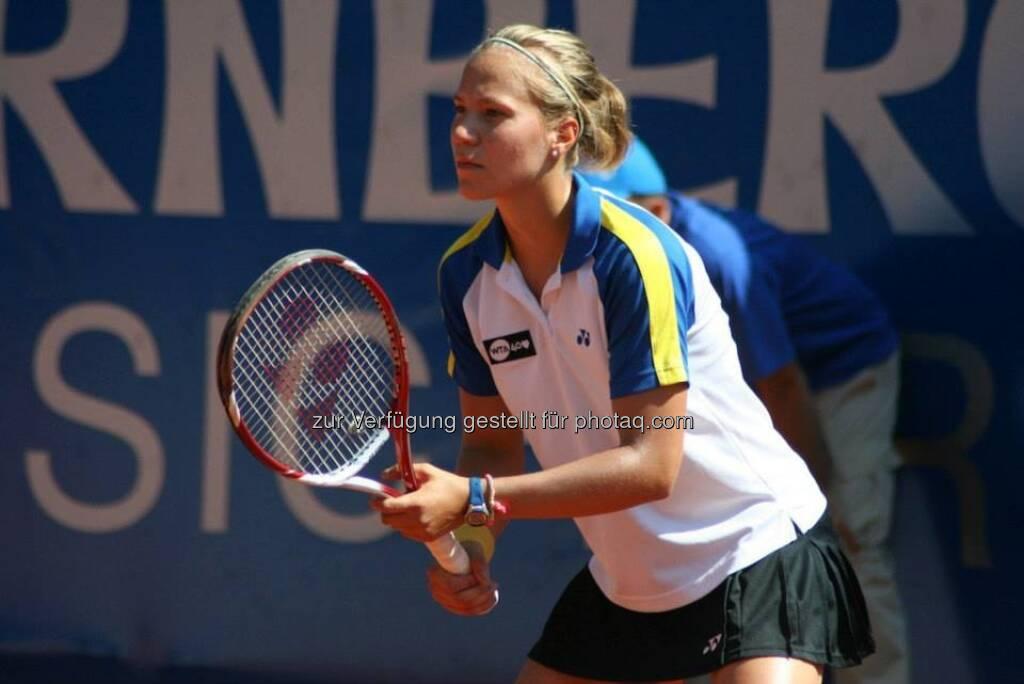 Viktorija Golubic beim Nürnberger Gastein Ladies, Tennis - mehr unter https://www.facebook.com/GasteinLadies (17.07.2013)