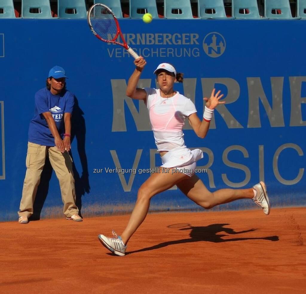 Andrea Petkovic beim Nürnberger Gastein Ladies, Tennis - mehr unter https://www.facebook.com/GasteinLadies (17.07.2013)