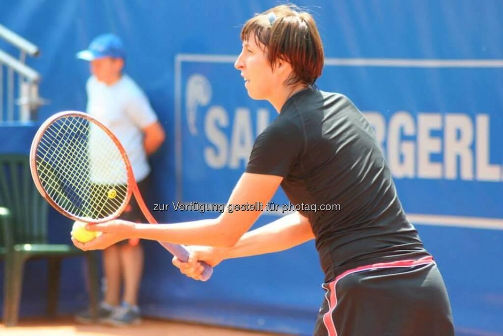 Yvonne Meusburger beim Nürnberger Gastein Ladies, Tennis - mehr unter https://www.facebook.com/GasteinLadies (20.07.2013)