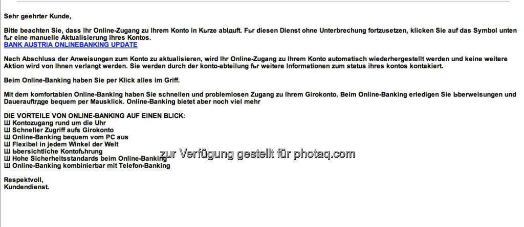 info@bankaustria.at sendet aus, Bank Austria als Stampfer (23.07.2013)