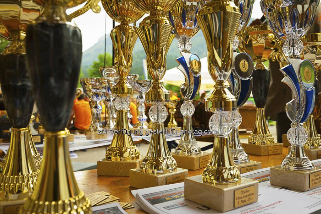 Pokale, ESPA-Ötscher-Marathon 2013 , © Rainer Mirau (27.07.2013)