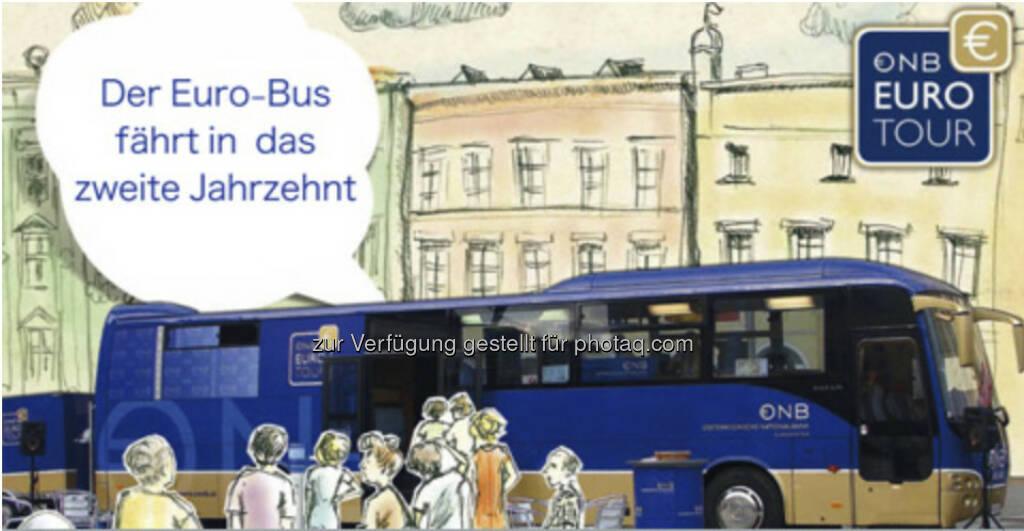 Euro-Bus informiert 31.500 Menschen über den Euro: OeNB - Euro-Bus on tour - http://www.oenb.at/de/rund_ums_geld/bargeldinfrastruktur/eurobus/euro-bus.jsp (27.07.2013)