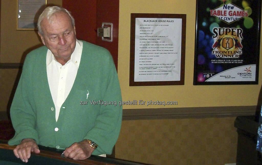 Arnold Palmer, Golf-Legende, zu Besuch bei Century Casinos in Colorado (c) Century (30.07.2013)