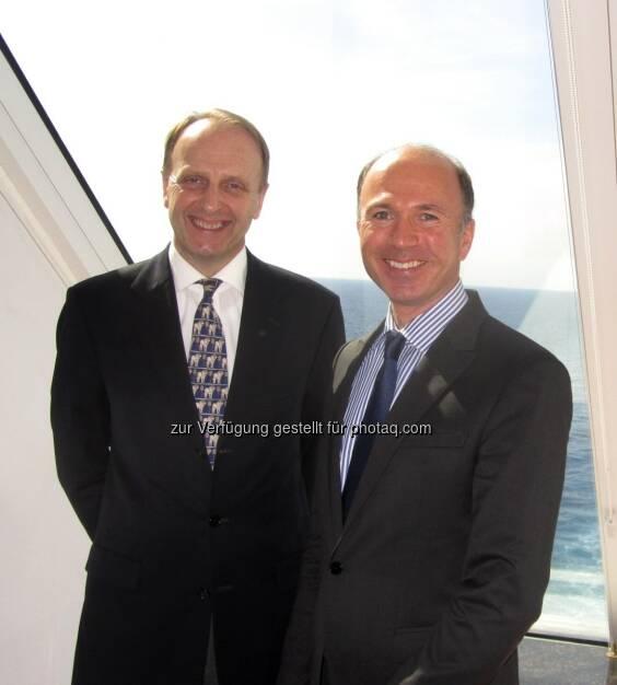 Erwin Haitzmann, Peter Hötzinger: Die Century-Casinos-Vorstände besuchen eines ihrer Schiffs-Casinos          , © beigestellt (30.07.2013)