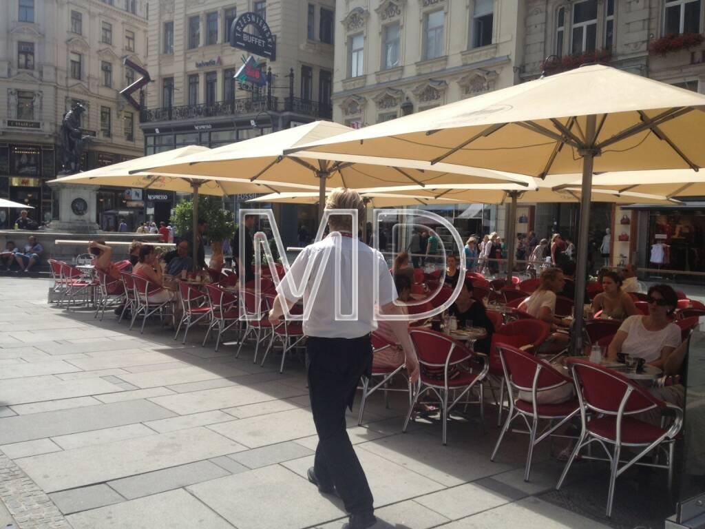 Graben, Cafe, Kellner, © www.martina-draper.at (31.07.2013)