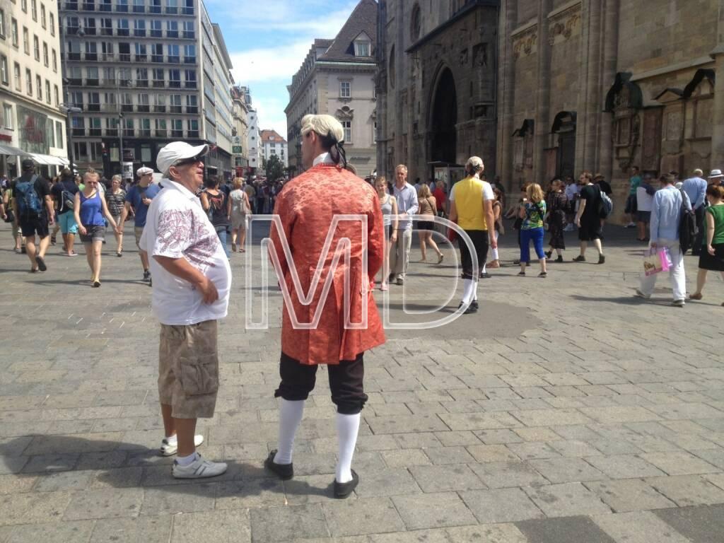 Stephansplatz, Mozart, Verkäufer, © www.martina-draper.at (31.07.2013)