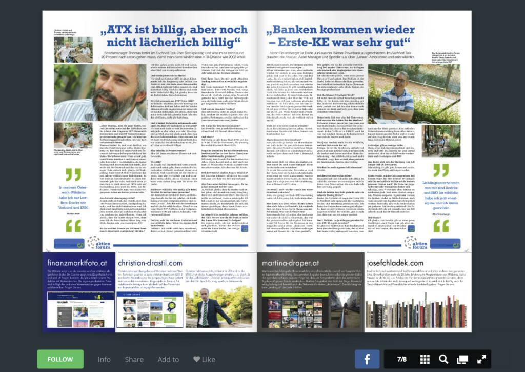 Seiten 6/7 - Interviews mit Thomas Irmler und Alfred Reisenberger - Download http://www.christian-drastil.com/fachheft11 (01.08.2013)