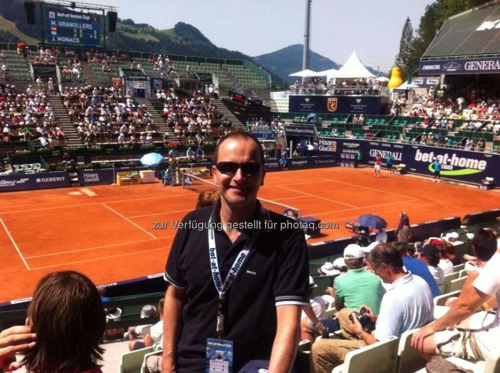 Erhard Salchenegger, Investor, beim bet-at-home-Cup in Kitzbühel (03.08.2013)